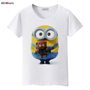 BGtomato Minions toys lovely T-shirt women famous popular cartoon cute shirts Brand Good quality breathable tops summer tees