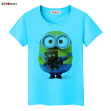 Load image into Gallery viewer, BGtomato Minions toys lovely T-shirt women famous popular cartoon cute shirts Brand Good quality breathable tops summer tees