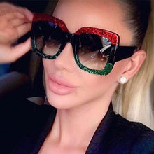 Load image into Gallery viewer, 2019 Oversized Sunglasses for Women Brand Designer Retro Sun glasses Red Green Shades Eyewear sunglasses woman