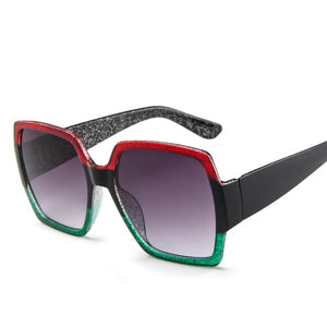 2019 Oversized Sunglasses for Women Brand Designer Retro Sun glasses Red Green Shades Eyewear sunglasses woman