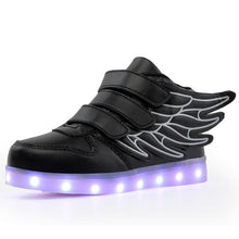 Load image into Gallery viewer, New usb charging glowing sneakers Kids Running led angel's wings kids with lights up luminous shoes girls' boys' shoes