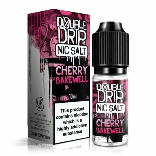 10MG Double Drip 10ML Flavoured Nic Salts E Liquid-Vaping Products-Double Drip-Cherry Bakewell-Stop n Vape