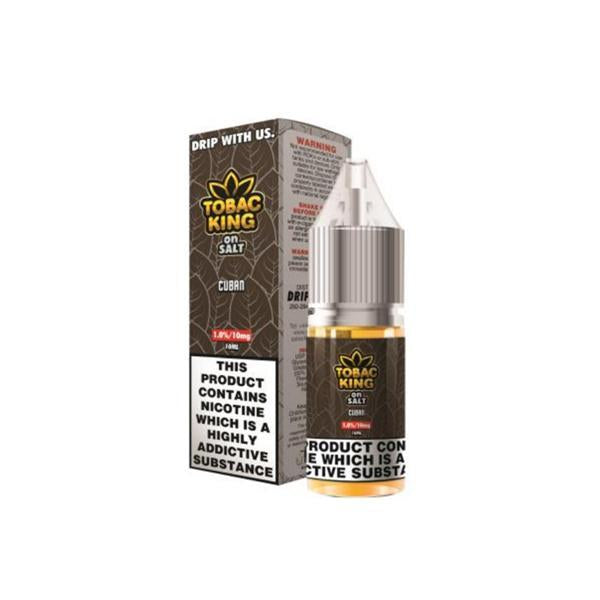 10MG Tobac King On Salt 10ML Flavoured Nic Salt (50VG/50PG)-Vaping Products-Drip More-Vanilla Custard-Stop n Vape