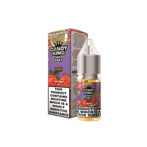 20mg Candy King On Salt 10ml Flavoured Nic Salt (50VG/50PG)-Vaping Products-Drip More-Strawberry Watermelon-Stop n Vape