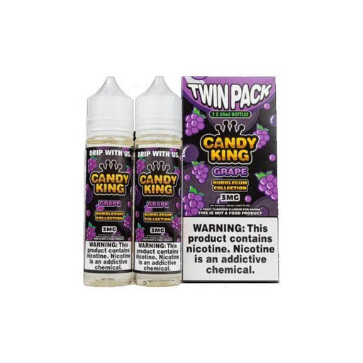 Candy King Bubblegum Edition Twin Pack 0mg 2 x 50ml Shortfill (70VG/30PG)-Vaping Products-Candy King-Grape-Stop n Vape