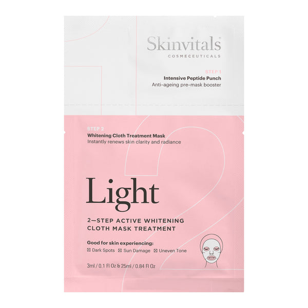 Light 2-Step Whitening Cloth Mask Treatment