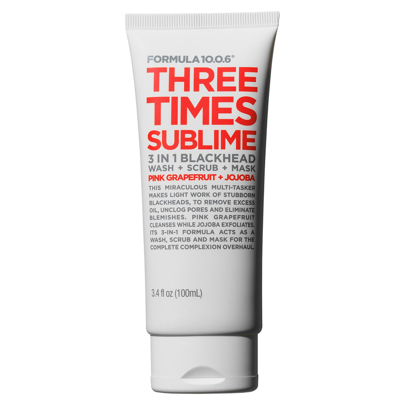 Three Times Sublime 3 in 1 Blackhead Wash, Scrub, Mask