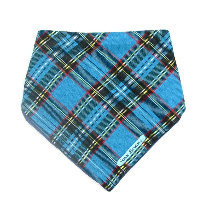 Tartan Dog Bandana Light Blue