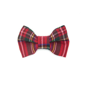 Tartan Dog Bow Tie Red