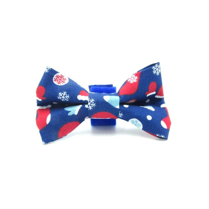 Cozy at Christmas Dog Bow Tie