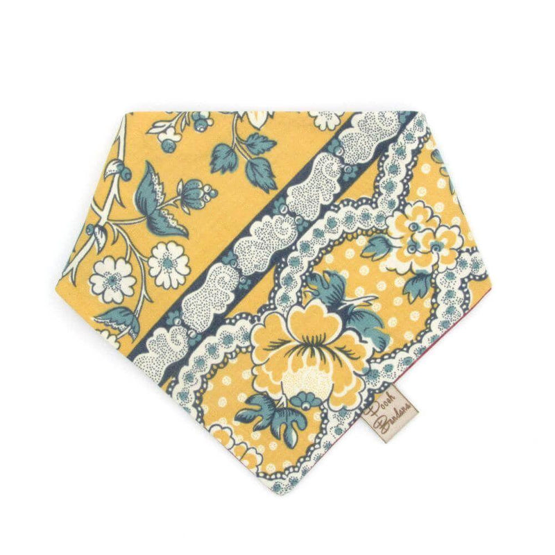 Spring Floral Dog Bandana Yellow