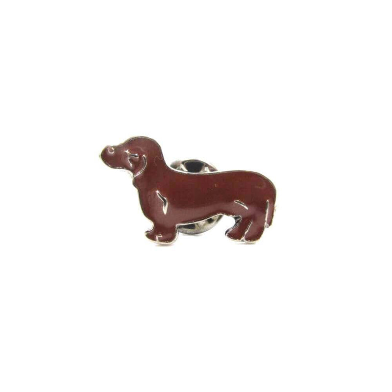 Dachshund Pin Badge Brown