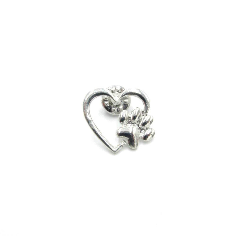 Heart And Paw Pin Badge