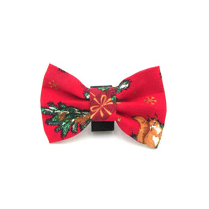 Festive Christmas Dog Bow Tie Red - LIMITED EDITION