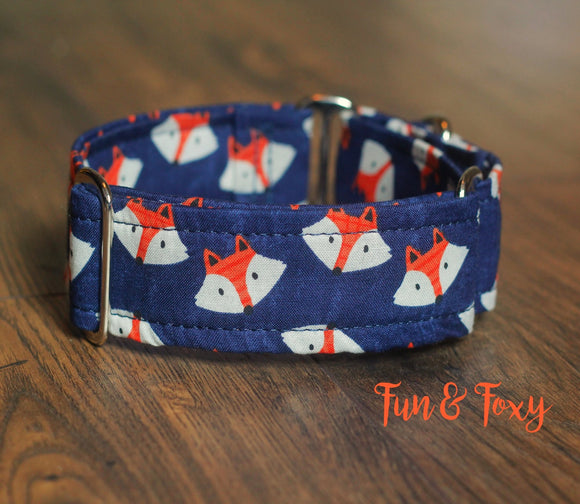 Blue Fox Martingale Dog Collar, 1.5