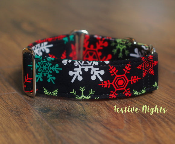 Colorful Snowflakes Dog Collar