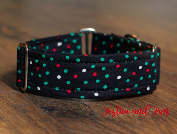 Polka Dots for Christmas Dog Collar