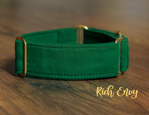Solid Green Dog Collar