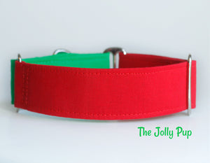 Red and Green Dog Collar
