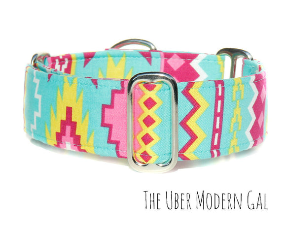 Tribal Aztec Martingale Dog Collar, 1.5