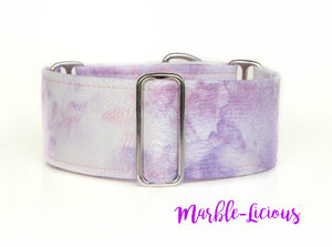 Marble Lilac Purple Dog Collar