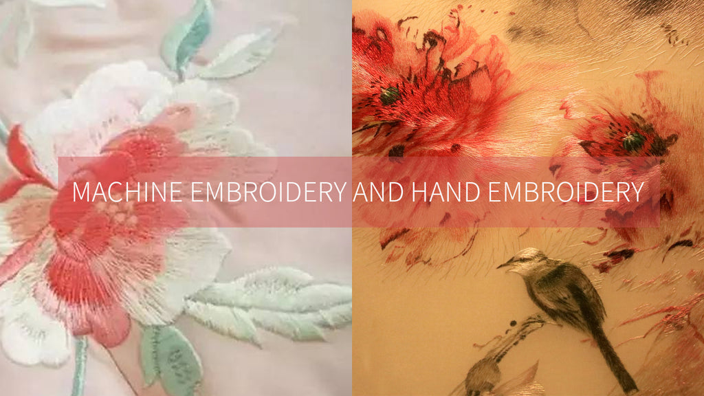 Hand Embroidery Products from Machine Embroidery