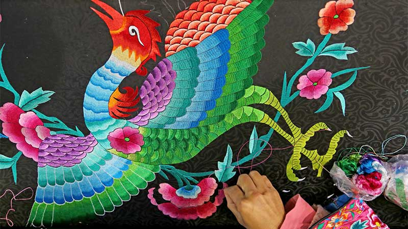 Types of Chinese Silk Embroidery