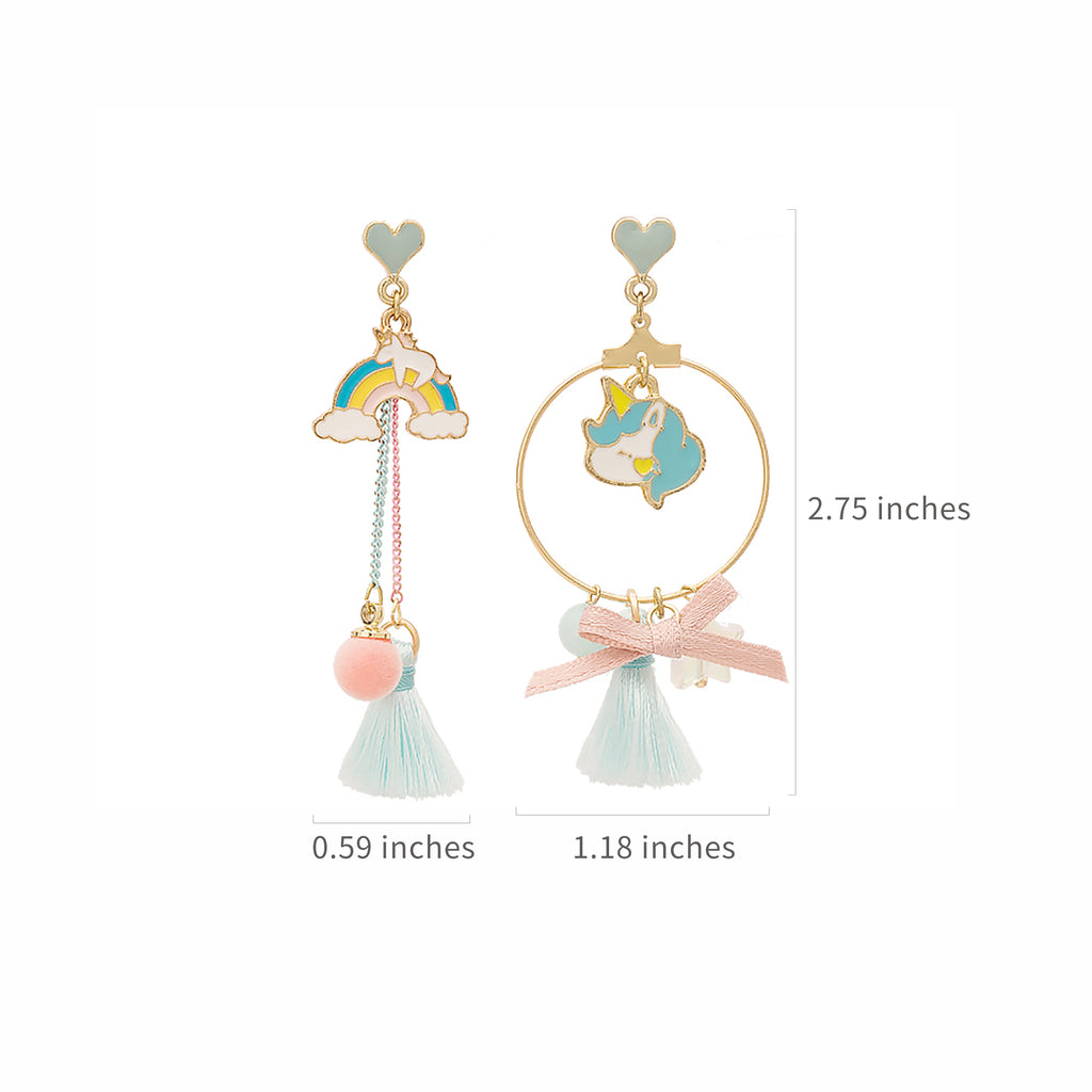 Rainbow unicorn Earrings