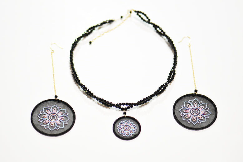 Caisson Embroidered Necklace
