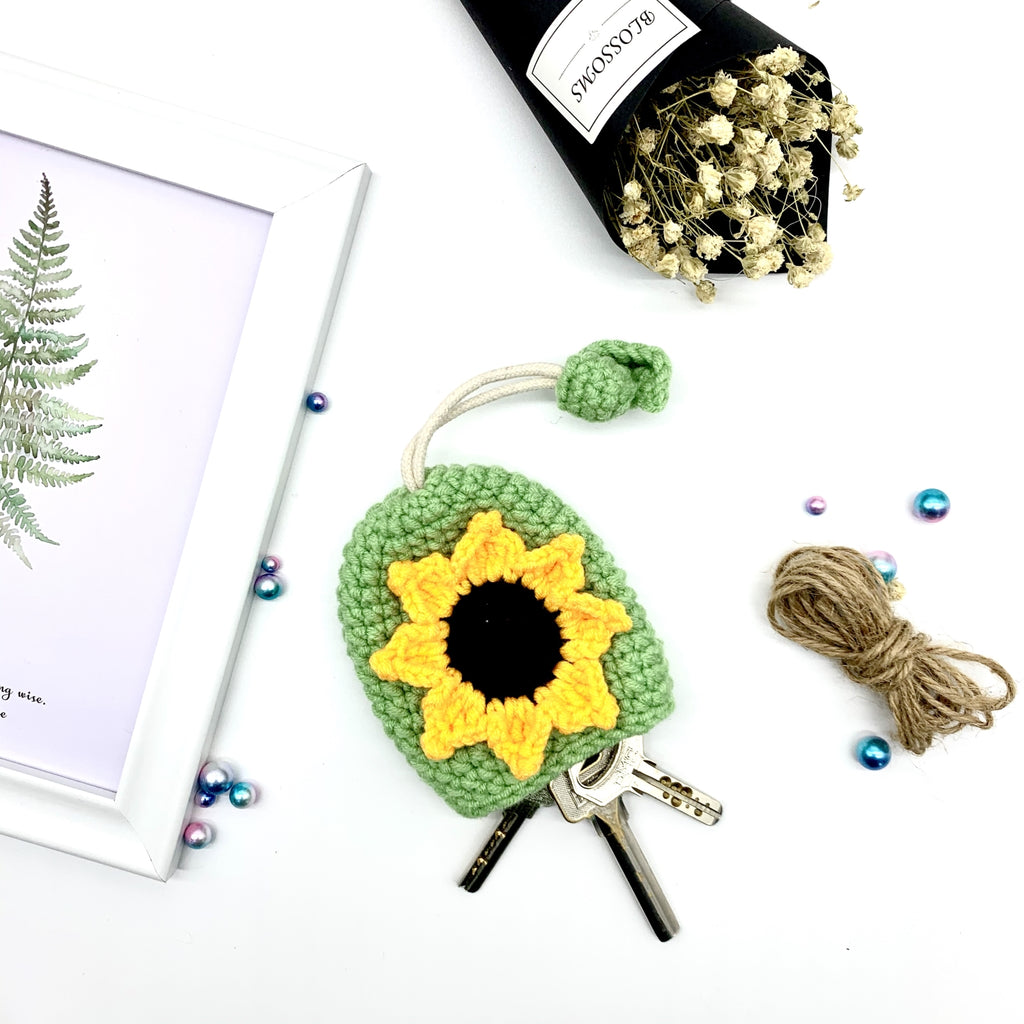 Sunflower Knitting Key Chains