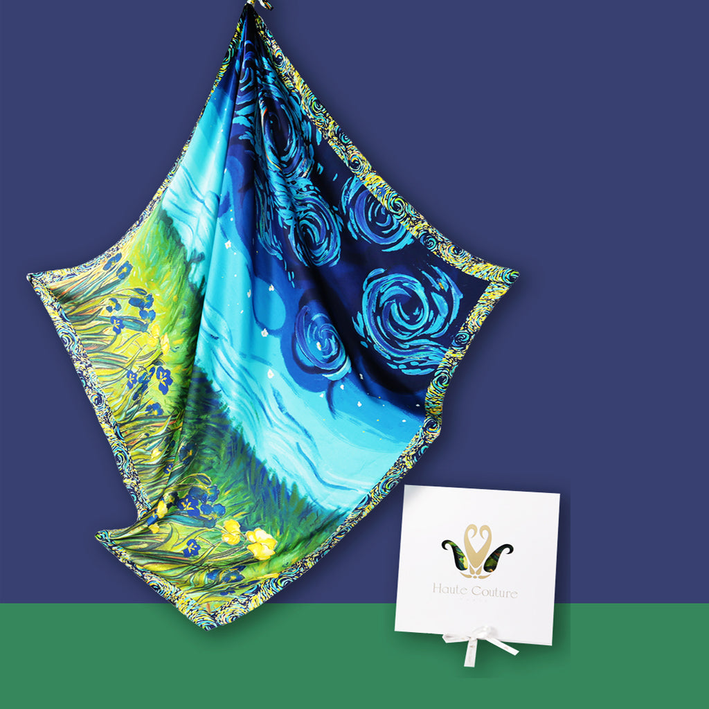 IRIS FLOWER  Silk Scarves