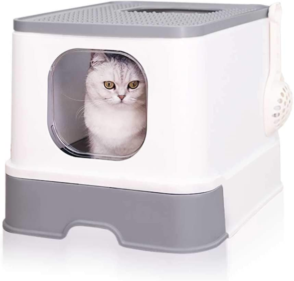 Fully Enclosed Drawer design Cat Litter Box