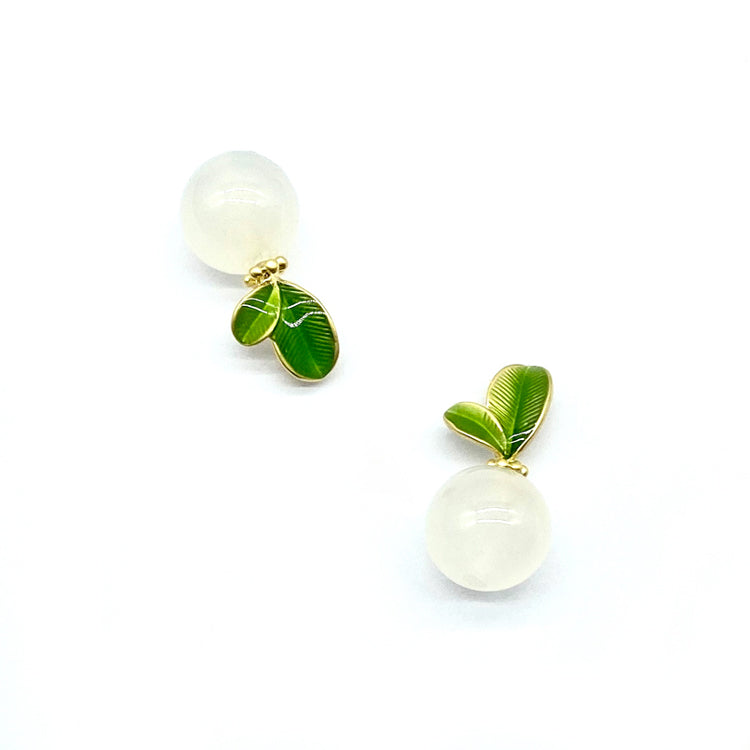 Green Shoots Stud Earrings