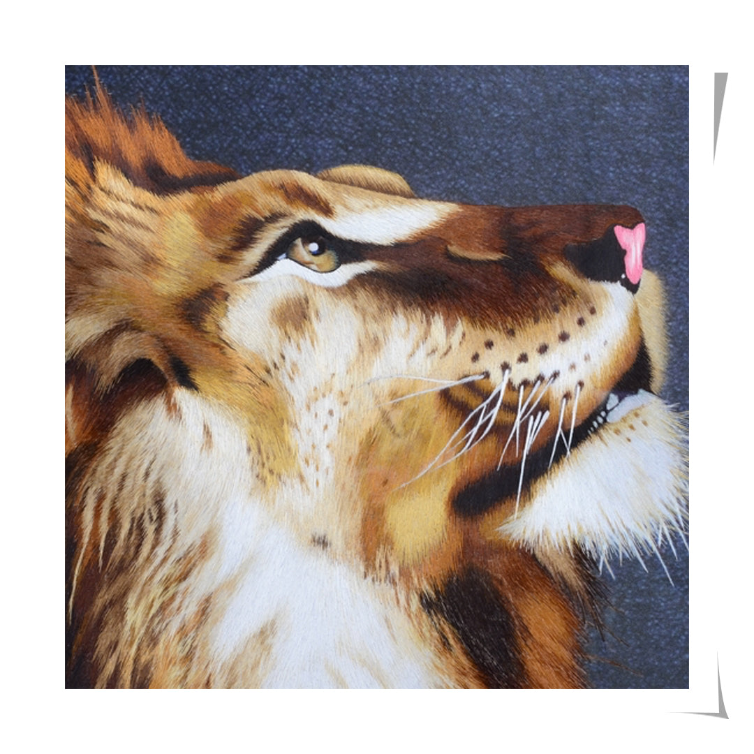 Lion Embroidered Artwork
