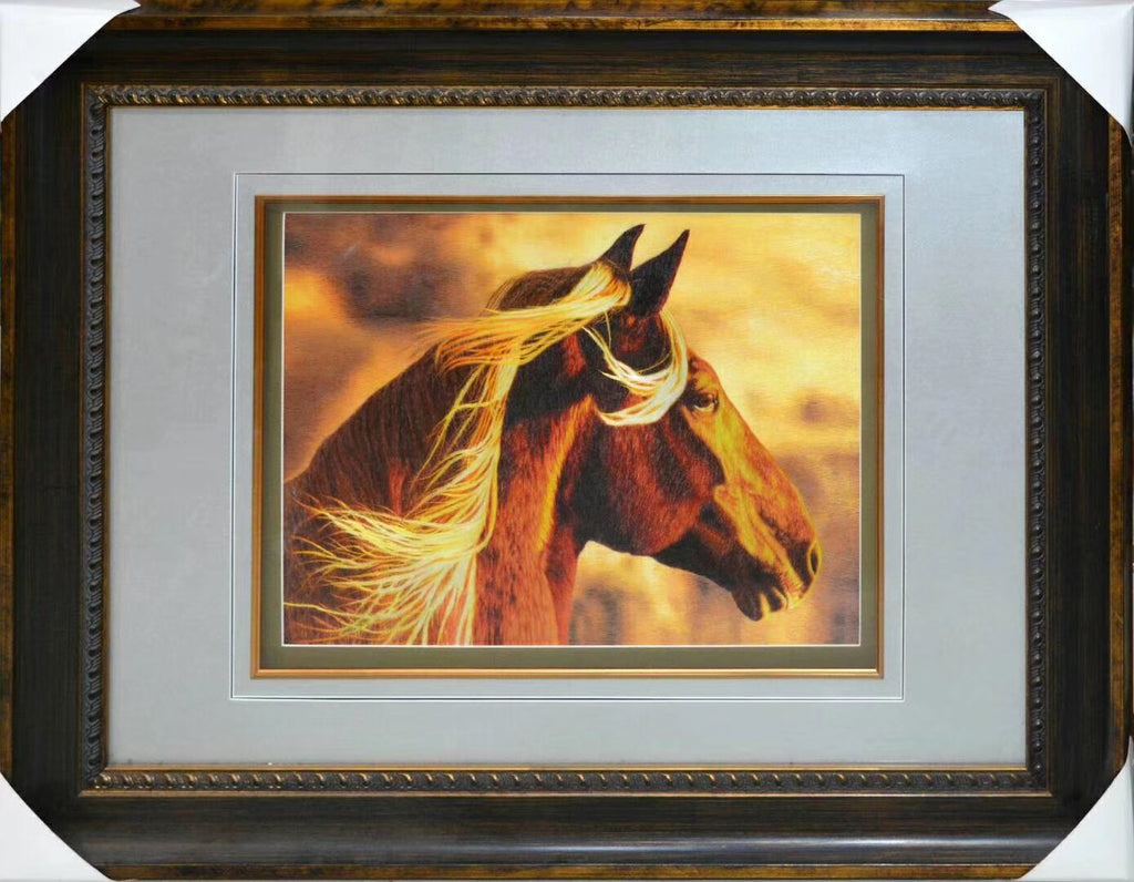 Horse Embroidered Artwork