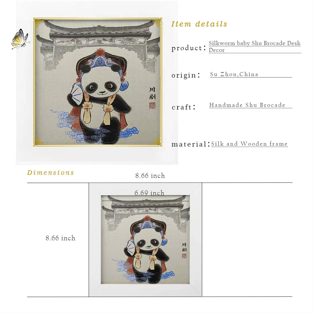 Opera Panda Shu Brocade Desk Decor