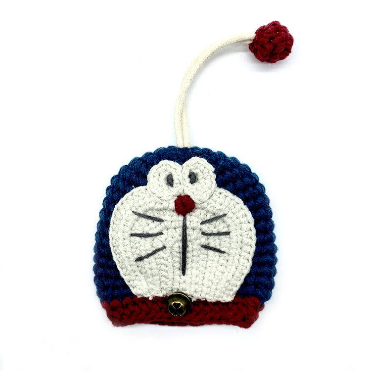 Vintage Doraemon Knitting Key Chains