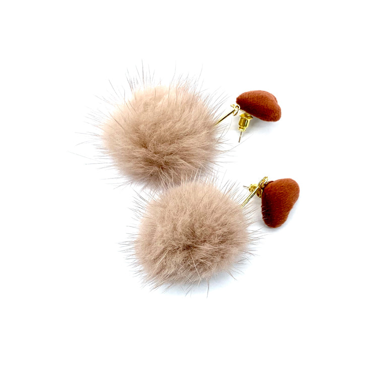 Fur Ball Earrings