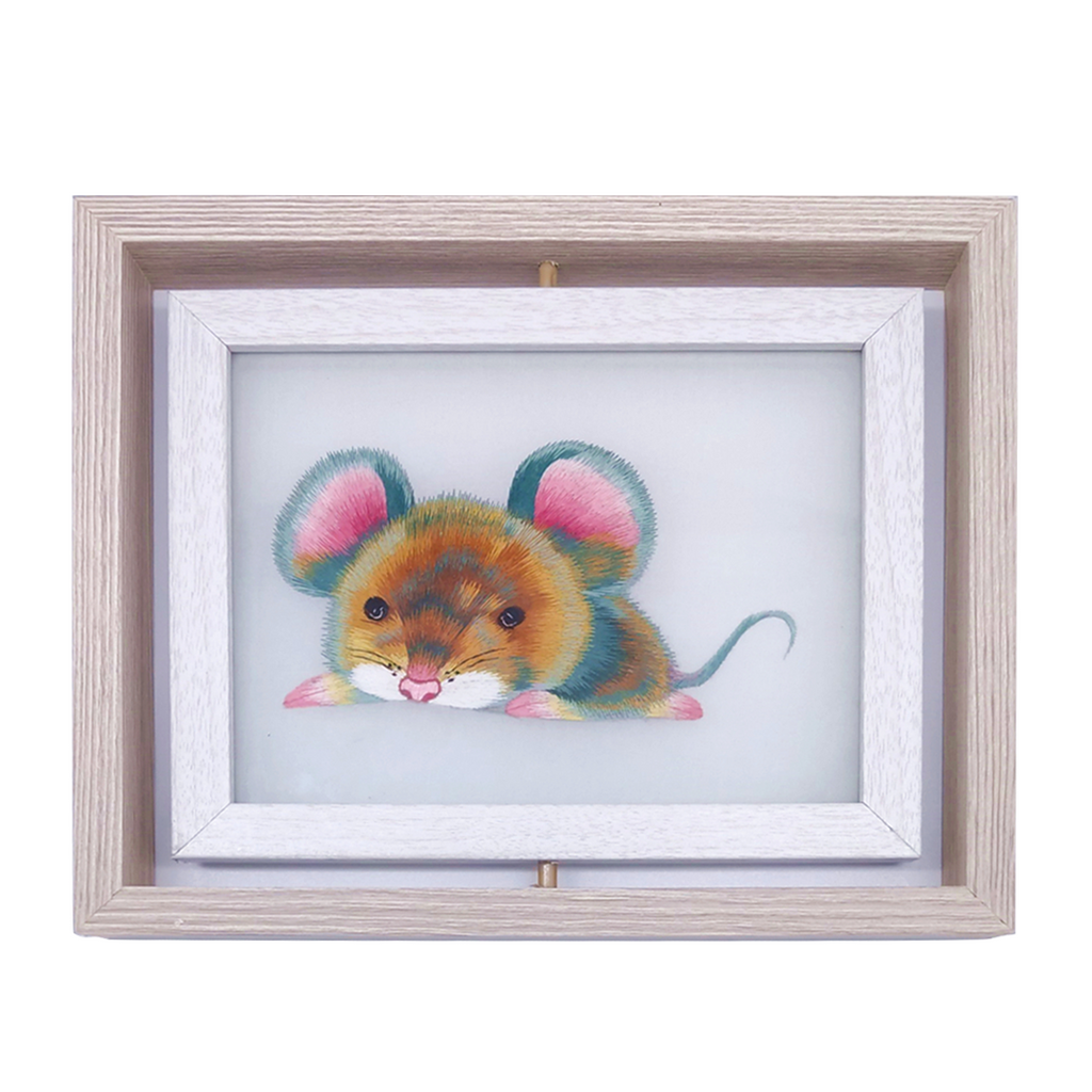 Rat Hand Embroidered Desk Decor, The 12 Chinese zodiac Rat