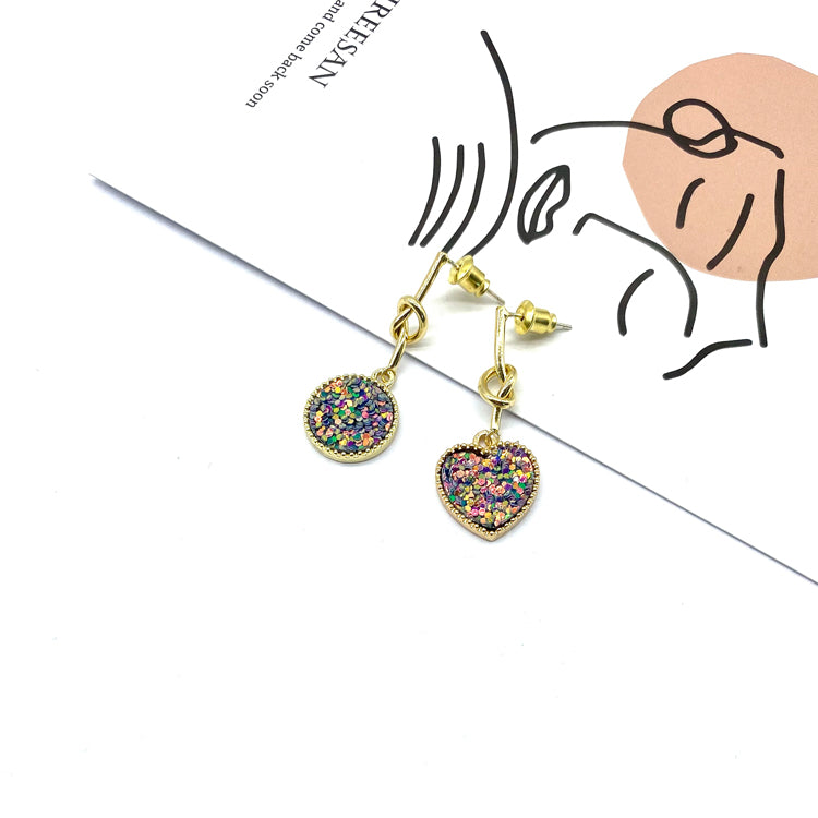 Paillette Sweet-heart Earrings