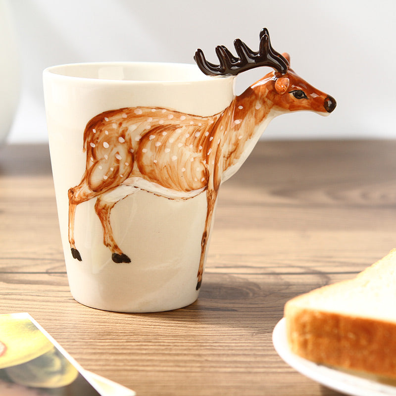 Hand-Drawn Ceramic Mug