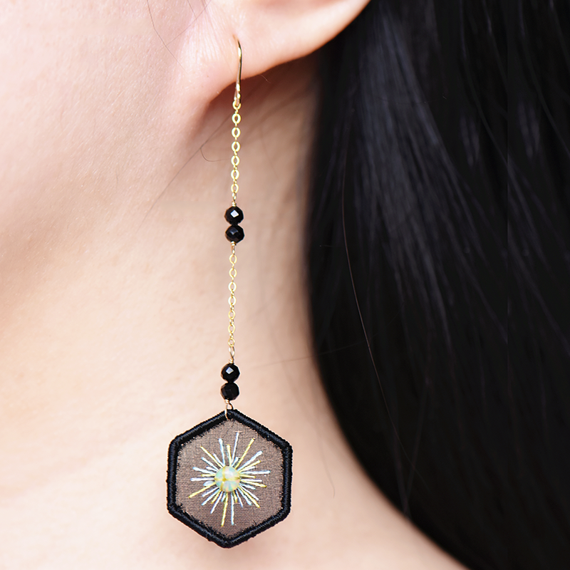 Shine Embroidered Earrings