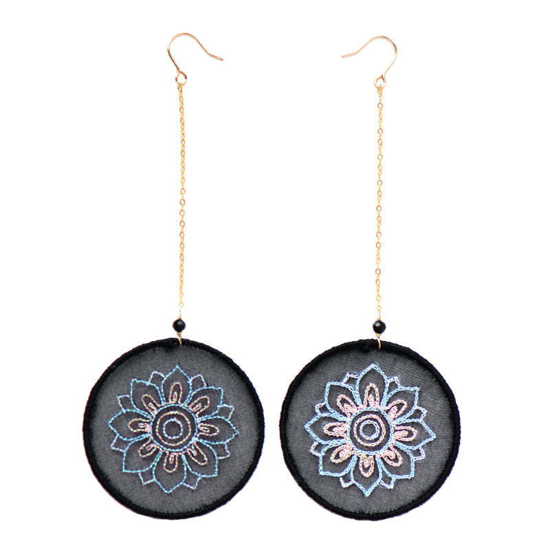 Caisson Embroidery Earrings