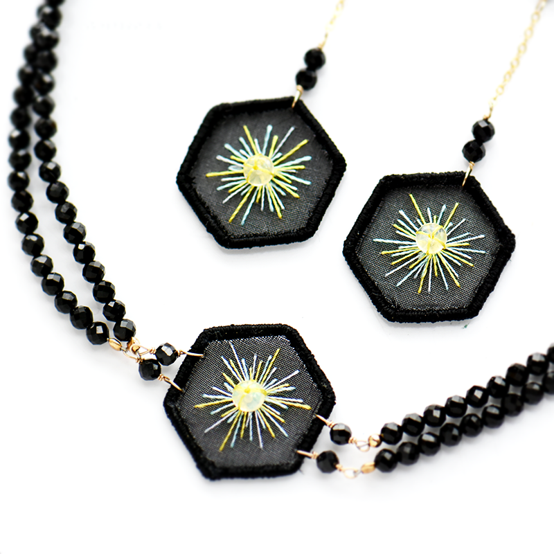 Shine Embroidered Necklace