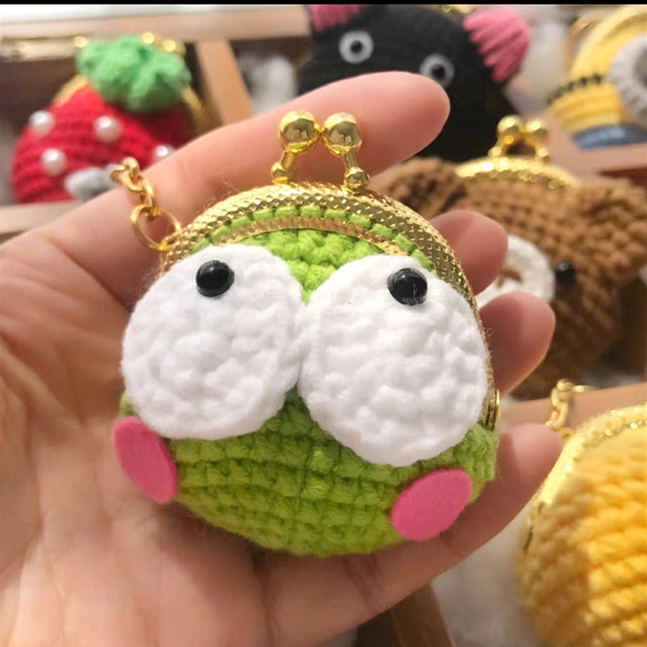 Cartoon Knitting Mini wallet, Key Chain [Pre-sale]