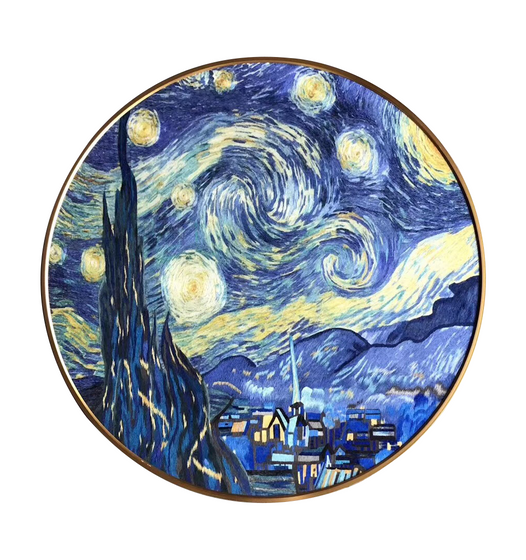 Starry Night Embroidered Artwork