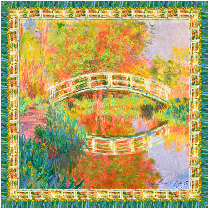 THE WATER LILY POND Silk Scarves