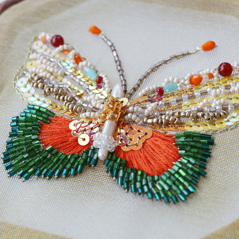 Colorful Butterfly Embroidered Wall Decor
