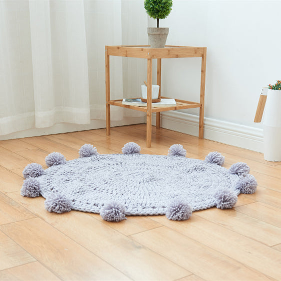 Concise Pure Color Hand-Knitting Carpet