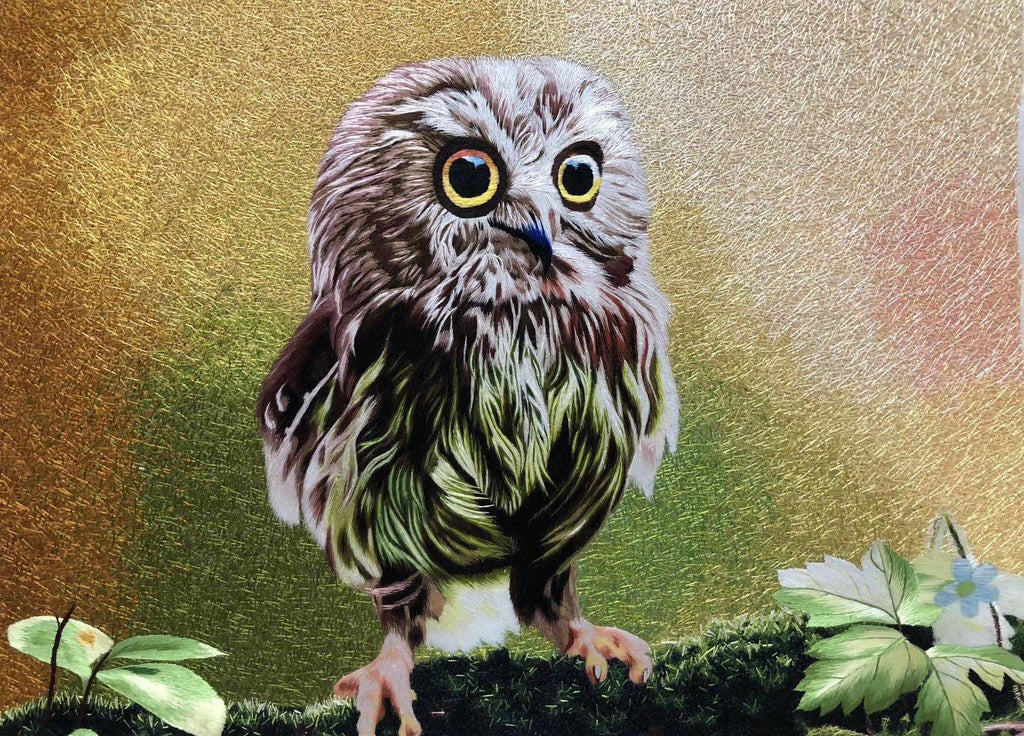 Owl Embroidered Artwork